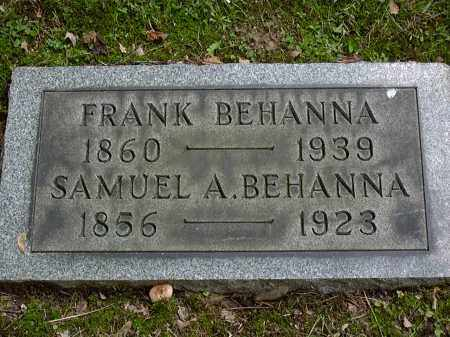BEHANNA, SAMUEL - Washington County, Pennsylvania | SAMUEL BEHANNA - Pennsylvania Gravestone Photos