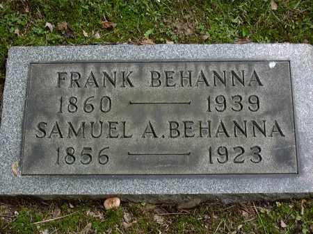 BEHANNA, FRANK - Washington County, Pennsylvania | FRANK BEHANNA - Pennsylvania Gravestone Photos