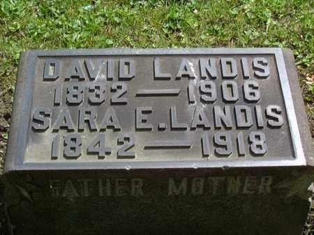 LANDIS, DAVID - Washington County, Pennsylvania   DAVID LANDIS - Pennsylvania Gravestone Photos