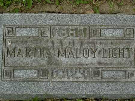 MALOY LIGHT, MARTHA - Washington County, Pennsylvania   MARTHA MALOY LIGHT - Pennsylvania Gravestone Photos