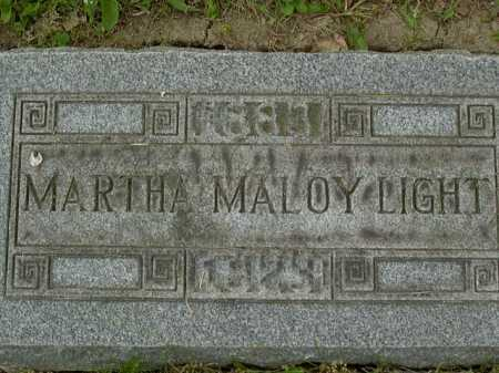 MALOY LIGHT, MARTHA - Washington County, Pennsylvania | MARTHA MALOY LIGHT - Pennsylvania Gravestone Photos