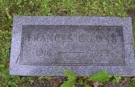 LONG, FRANCES - Washington County, Pennsylvania | FRANCES LONG - Pennsylvania Gravestone Photos
