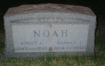 NOAH, HANNAH J - Washington County, Pennsylvania | HANNAH J NOAH - Pennsylvania Gravestone Photos