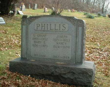 PHILLIS, U.GRANT - Washington County, Pennsylvania | U.GRANT PHILLIS - Pennsylvania Gravestone Photos