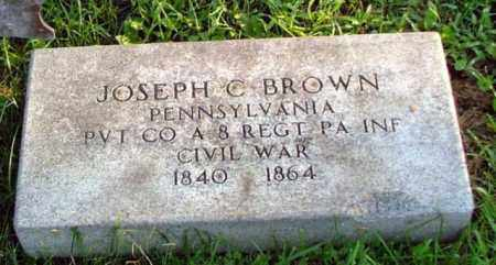 BROWN (CW), JOSEPH C. - Westmoreland County, Pennsylvania | JOSEPH C. BROWN (CW) - Pennsylvania Gravestone Photos