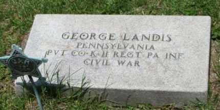 LANDIS (CW), GEORGE - Westmoreland County, Pennsylvania   GEORGE LANDIS (CW) - Pennsylvania Gravestone Photos