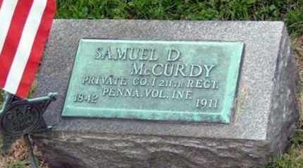 MCCURDY (CW), SAMUEL D. - Westmoreland County, Pennsylvania | SAMUEL D. MCCURDY (CW) - Pennsylvania Gravestone Photos