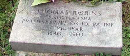 ROBINS (ROBBINS) (CW), THOMAS - Westmoreland County, Pennsylvania | THOMAS ROBINS (ROBBINS) (CW) - Pennsylvania Gravestone Photos