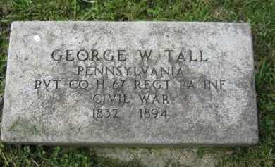 TALL (CW), GEORGE W. - Westmoreland County, Pennsylvania | GEORGE W. TALL (CW) - Pennsylvania Gravestone Photos