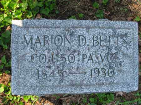 BETTS (CW), MARION D. - Wyoming County, Pennsylvania   MARION D. BETTS (CW) - Pennsylvania Gravestone Photos