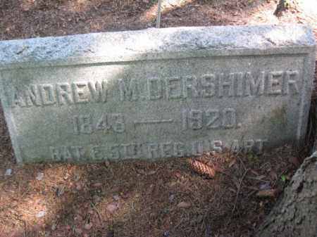 DERSHIMER (CW), ANDREW M. - Wyoming County, Pennsylvania | ANDREW M. DERSHIMER (CW) - Pennsylvania Gravestone Photos