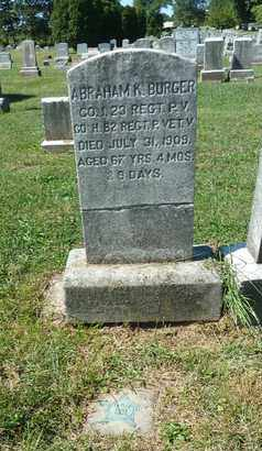 BURGER, ABRAHAM K - York County, Pennsylvania   ABRAHAM K BURGER - Pennsylvania Gravestone Photos