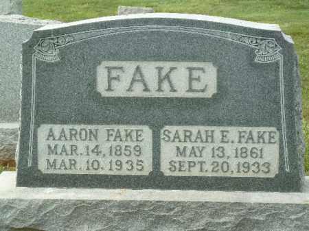 FAKE, SARAH E. - York County, Pennsylvania | SARAH E. FAKE - Pennsylvania Gravestone Photos