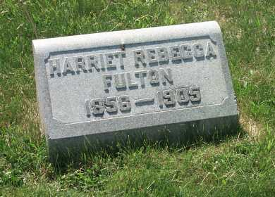 FULTON, HARRIET REBECCA - York County, Pennsylvania | HARRIET REBECCA FULTON - Pennsylvania Gravestone Photos