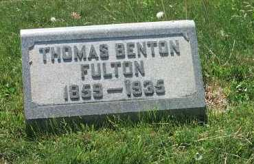 FULTON, THOMAS BENTON - York County, Pennsylvania | THOMAS BENTON FULTON - Pennsylvania Gravestone Photos