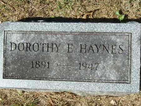 HAYNES, DOROTHY E. - York County, Pennsylvania   DOROTHY E. HAYNES - Pennsylvania Gravestone Photos