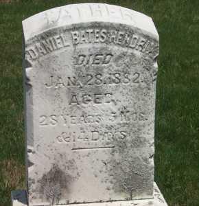 HENDRIX, DANIEL BATES - York County, Pennsylvania | DANIEL BATES HENDRIX - Pennsylvania Gravestone Photos