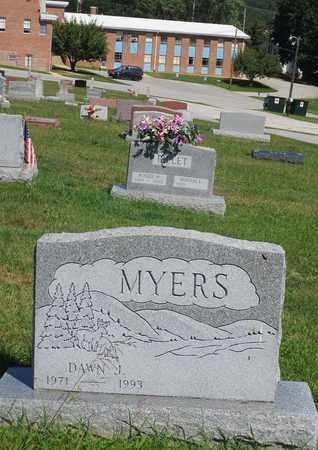 MYERS, DAWN J. - York County, Pennsylvania   DAWN J. MYERS - Pennsylvania Gravestone Photos