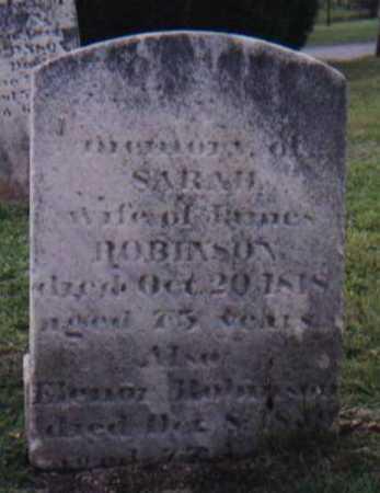 DIXON ROBINSON, SARAH - York County, Pennsylvania   SARAH DIXON ROBINSON - Pennsylvania Gravestone Photos