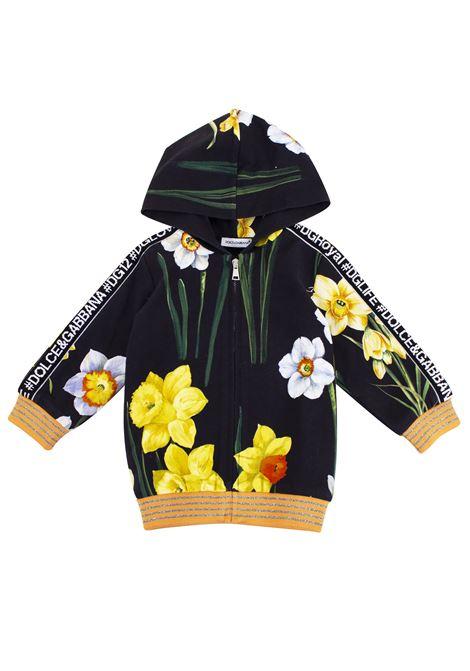 Felpa neonato a fiori DOLCE & GABBANA KIDS | Felpe | L2JWU4 G7QEGHNS51