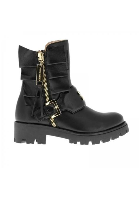 Little girl's boot with gold inserts ELISABETTA FRANCHI KIDS | Shoes | 5853701