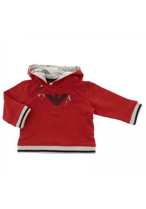 Newborn sweatshirt with hood EMPORIO ARMANI KIDS | T-shirt | 6ZHM01 4J26Z0352