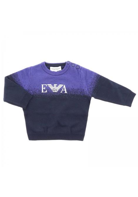 Two-colored child's sweater EMPORIO ARMANI KIDS | T-shirt | 6ZHM54 4M0BZF903