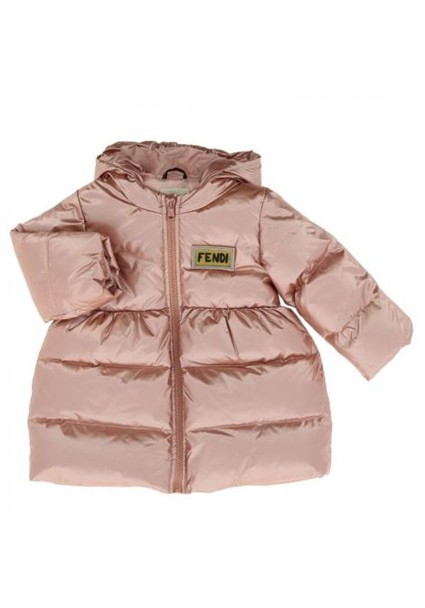 Baby down jacket with hood FENDI KIDS | Padded jackets | BFA048 A3TYF0HD0