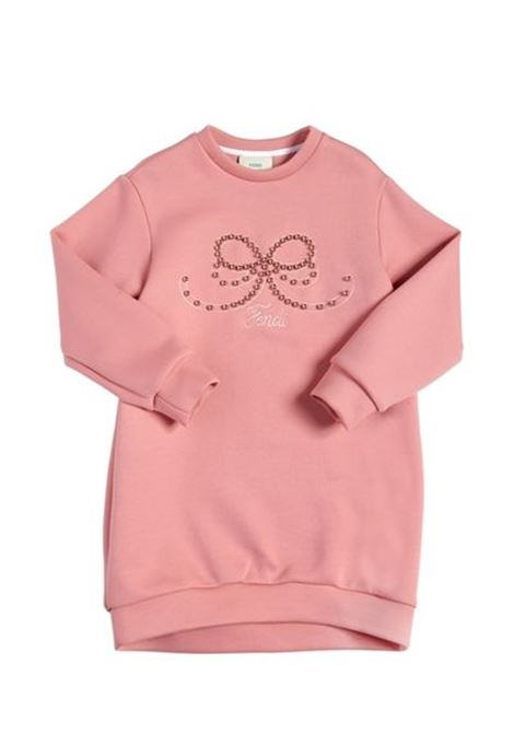 Newborn dress with pearls FENDI KIDS | Dress | BFB164 A4R2F0YKJ