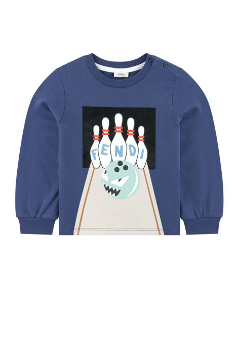 Newborn sweatshirt with print FENDI KIDS | Sweatshirts | BMH048 A4RAF0QA2