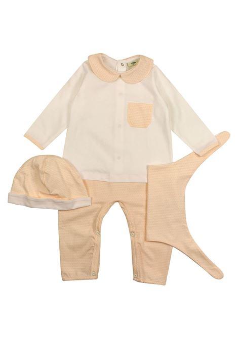 Three-piece baby set FENDI KIDS | Kit | FSW232 NNWF0YT7