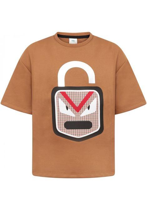 in neoprene FENDI KIDS | T-shirt | JMI224 A4R2F0QK6