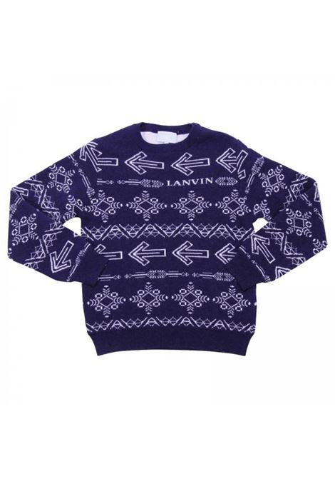 Child's sweater with decorations LANVIN KIDS | Chokers | 4J9000 JC390620BC