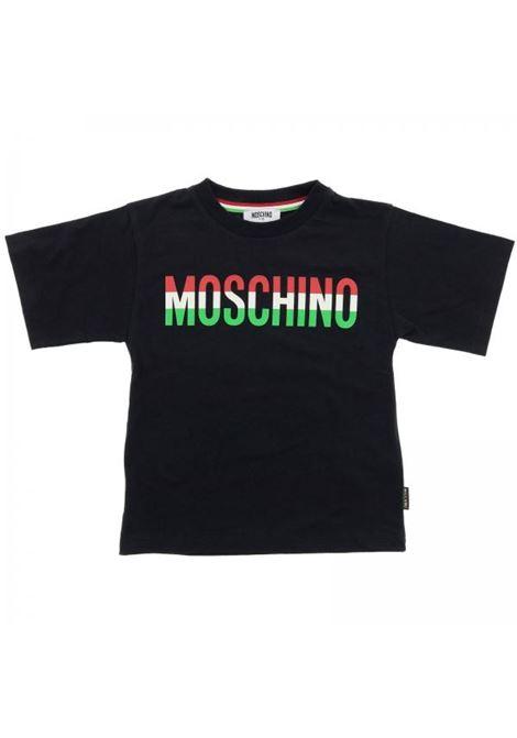 T-shirt stampa tricolore MOSCHINO KIDS | T-shirt | H5M01NLAA0723,50