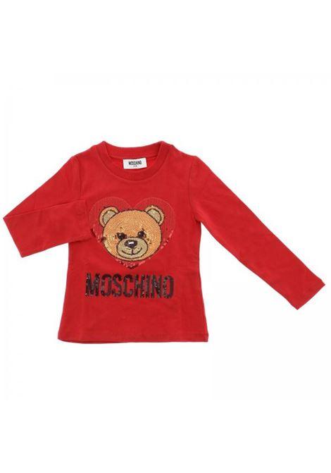 Little girl's t-shirt with sequins MOSCHINO KIDS | T-shirt | HEM02ALBA0750109