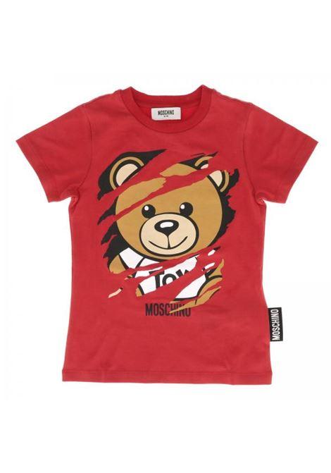 T-shirt bambino con stampa MOSCHINO KIDS | Maglie | HOM01ILBA0650109