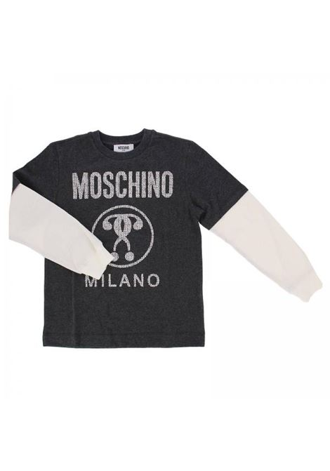 Bicolor sleeves child t-shirt MOSCHINO KIDS | T-shirt | HUM01ZLBA0360907