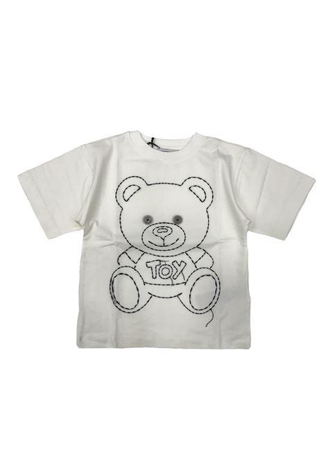 T-shirt bambino ricamata MOSCHINO KIDS | Maxi t-shirt | HYM01NLBA0310063