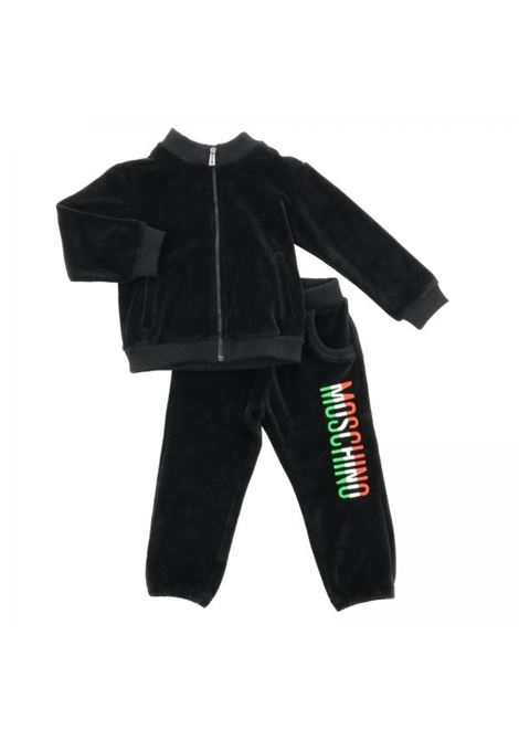 Baby set with tricolor print MOSCHINO KIDS | Suits | MUK01WLGA0260100