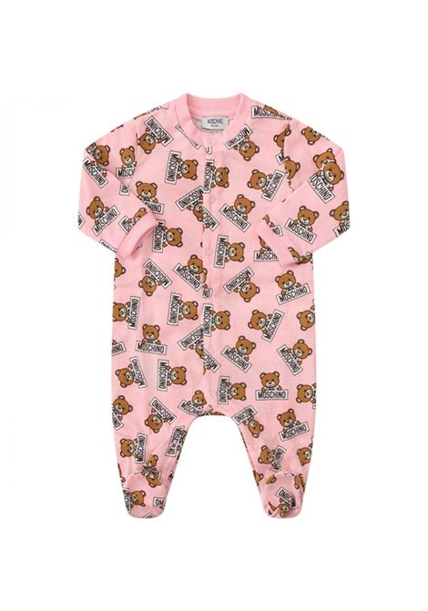 Newborn overalls with all-over prints MOSCHINO KIDS | Newborn jumpsuits | MUY01JLAB0783975