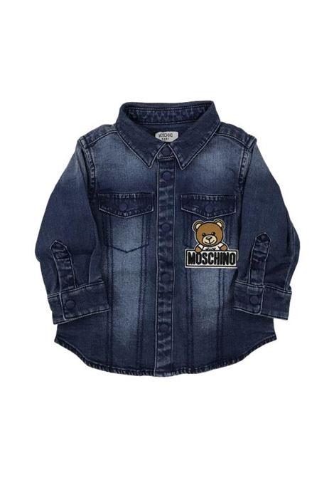 Baby denim shirt MOSCHINO KIDS | Shirt | MWC016LXE0540016