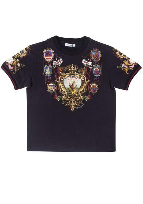 T-shirt bambino con stampa DOLCE & GABBANA KIDS | T-shirt | L4JT7LG7TNZHN35A
