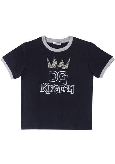 T-shirt bambino con stampa DOLCE & GABBANA KIDS | T-shirt | L4JT8AG7SVQB0665