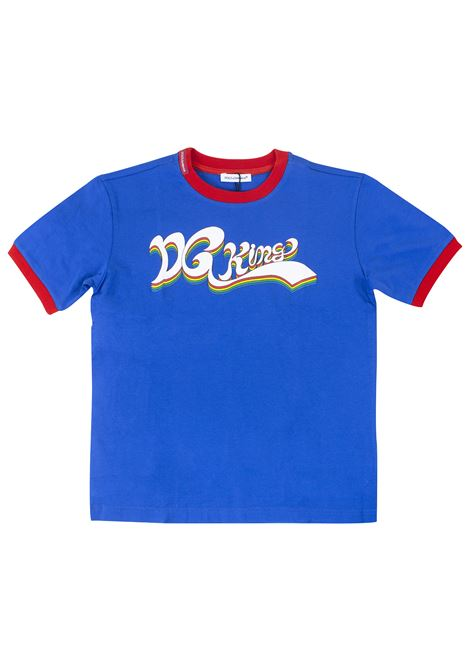 T-shirt bambino con stampa DOLCE & GABBANA KIDS | T-shirt | L4JT8FG7SPUB0315