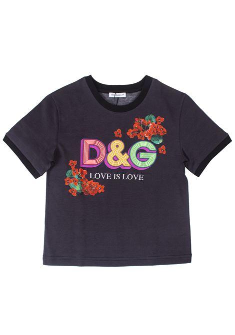 Girl print t-shirt DOLCE & GABBANA KIDS | T-shirt | L5JTBEG7TRLN0000