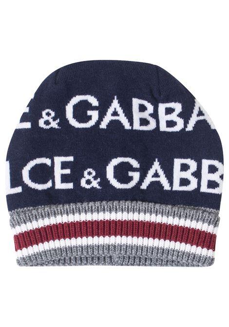 Logo baby hat DOLCE & GABBANA KIDS | Hats | LBKH23JAMC9S9000