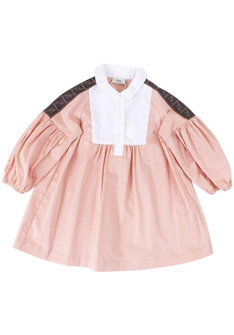 Newborn shirt dress FENDI KIDS | Dress | BFB211A69JF0AU4