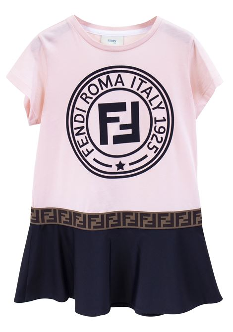 Girl's logo dress FENDI KIDS | Dress | JFB2827AJF0GCC