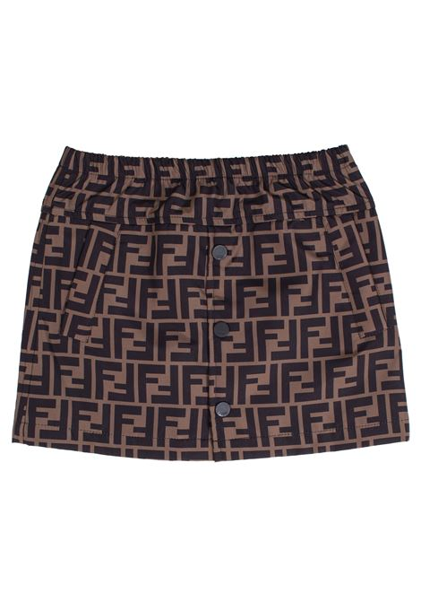 Girl's logoed skirt FENDI KIDS | Skirt | JFE047A8LJF0E0X