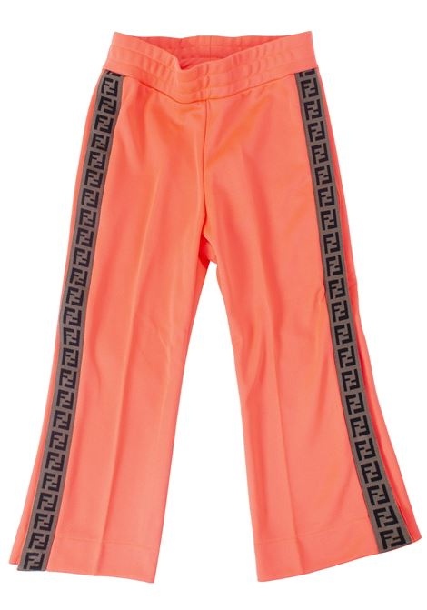 Girl's trousers with logo FENDI KIDS | Trousers | JFF125A69DTF17TS